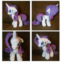 Plushie Pony Rarity by DoctorKoda