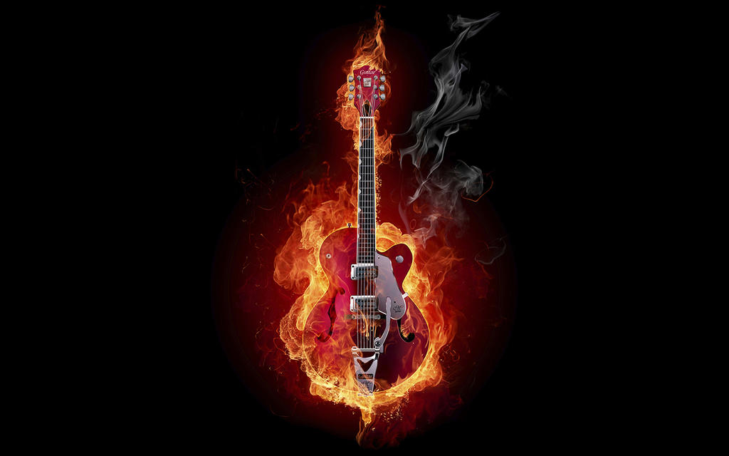 Guitar On Fire the real rock and roll what can do by ...