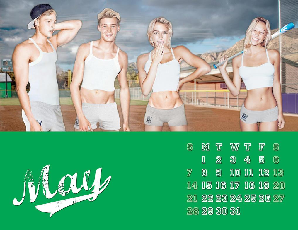 2017 M-to-F Pin-Up Calendar - May by CrisKane