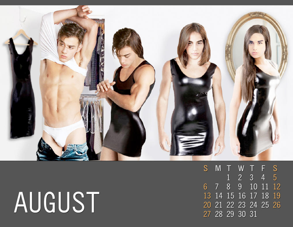 2017 M-to-F Pin-Up Calendar - August by CrisKane
