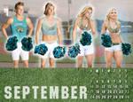 2017 M-to-F Pin-Up Calendar - September