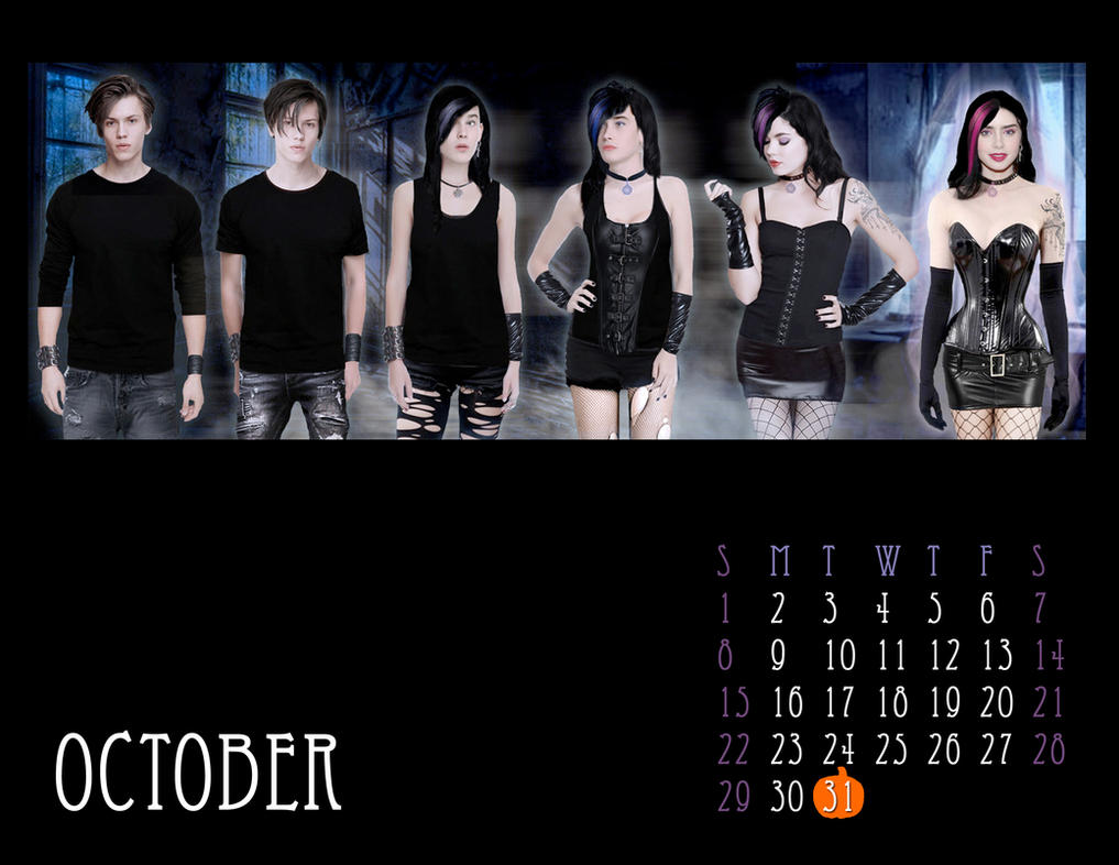 2017 M-to-F Pin-Up Calendar - October by CrisKane
