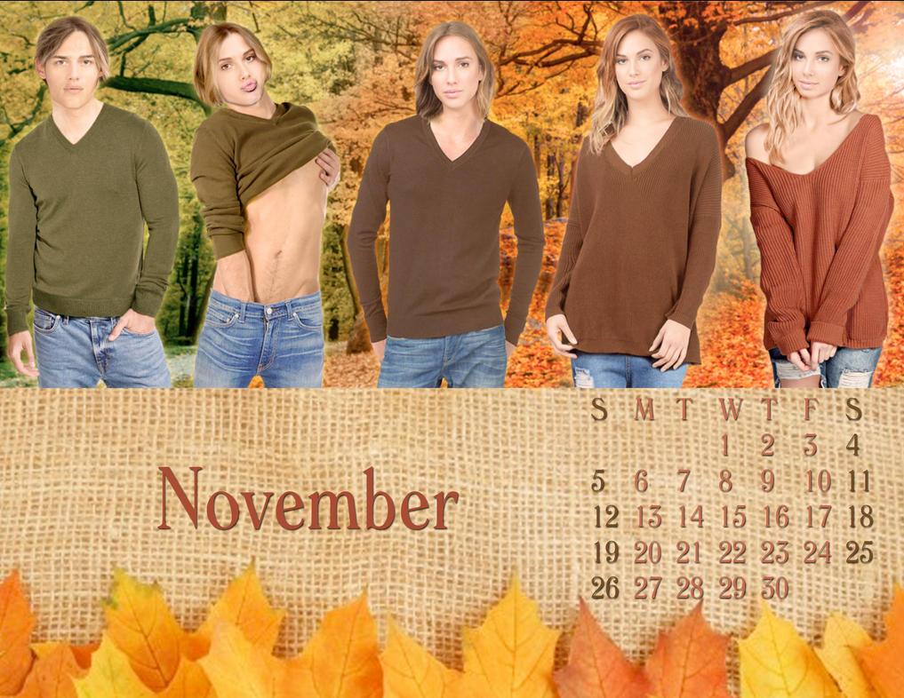 2017 M-to-F Pin-Up Calendar - November by CrisKane
