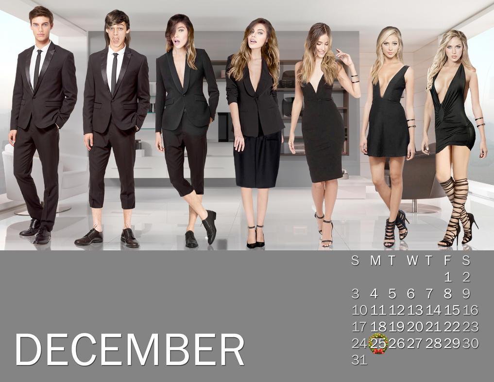 2017 M-to-F Pin-Up Calendar - December by CrisKane