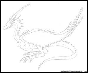 Springnight Webbed Wyvernoid -Quick Sketch- by SpringnightAkuma