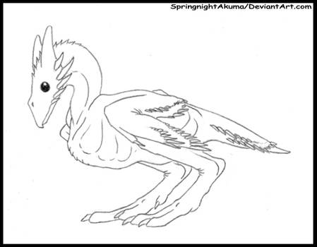 Springnight Wyvernoid Chick  -LineArt Adoptable-