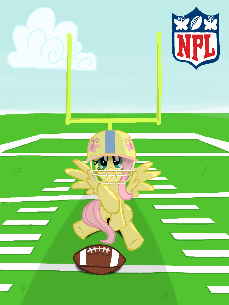 Fluttershy: Football Star by Jkaboose