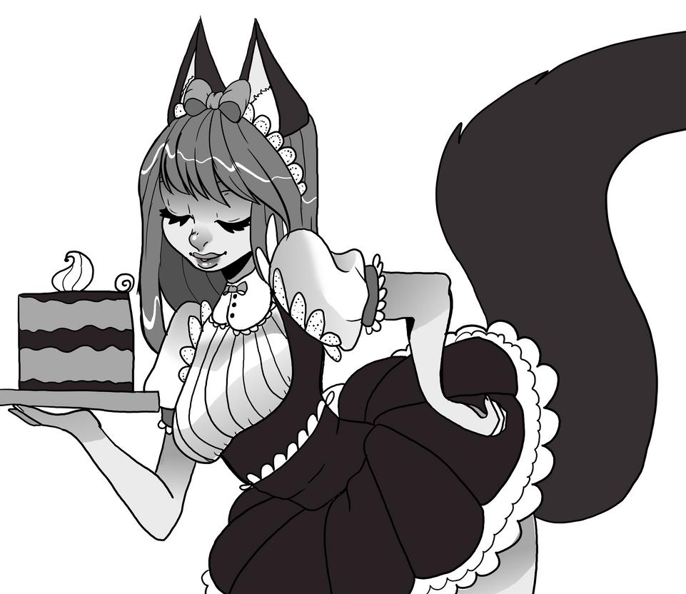 Fox Maid by peekaboo789