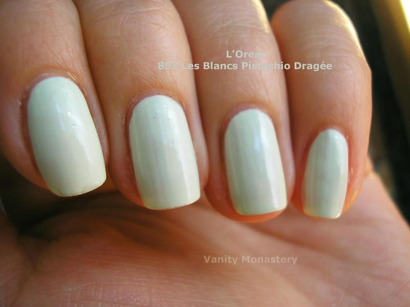 LOreal Pistachio Dragee nails by VanityMonastery on DeviantArt