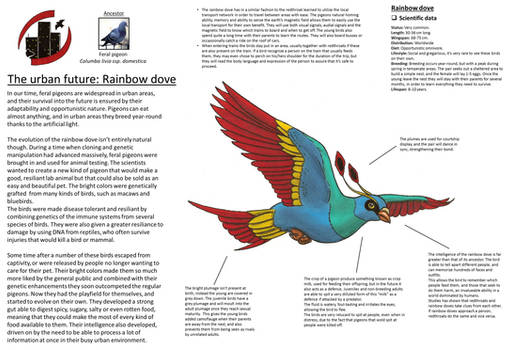 Urban future - Rainbow dove