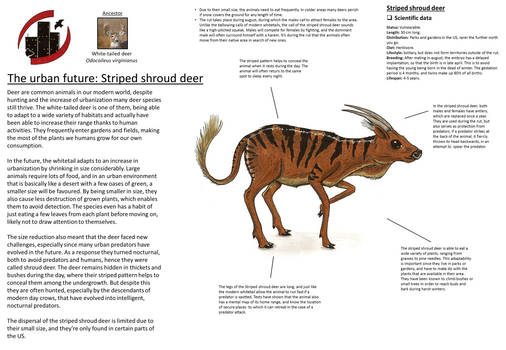 Urban future - Striped shroud deer