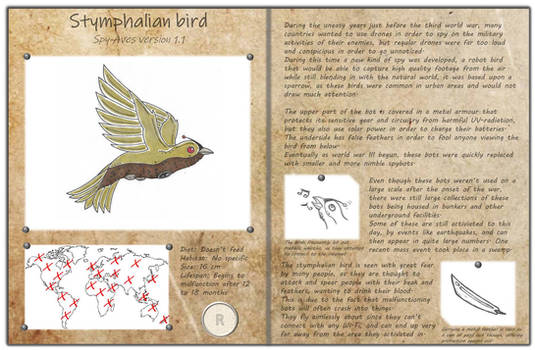 Technological fantasy - Stymphalian bird