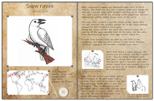 Technological fantasy - Snow raven