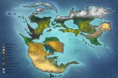 World map of Aglaia