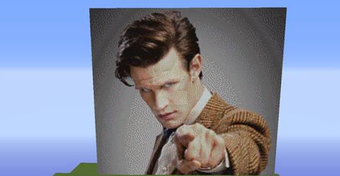 Doctor Who 11th Doctor Matt Smith (Minecraft)