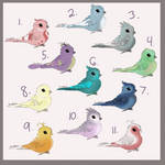 $5 Birdie Adopts (11/11 open) by IvoryAvian