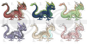 (6/6 open) Baby Noodle Dragon Adopts