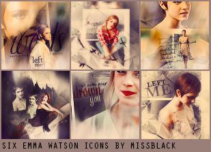 Six Emma Watson Icons by EmeliaJane