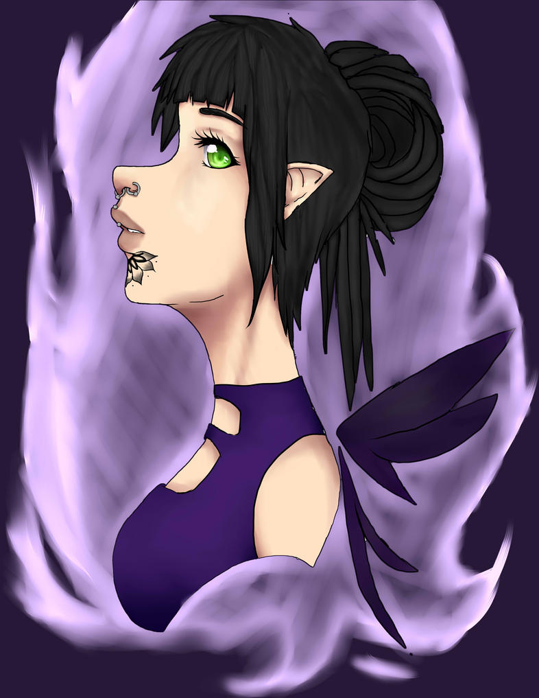Dark Faerie Queen by RikaRoseTakahashi