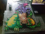 Super Metroid boss statue FULL COLOR!!