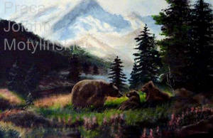 The Grizzly Bear in the Mountains