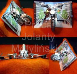 Pop - up Card (Motorbike) by jolabrodnica