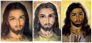 Portrait of Jesus progress