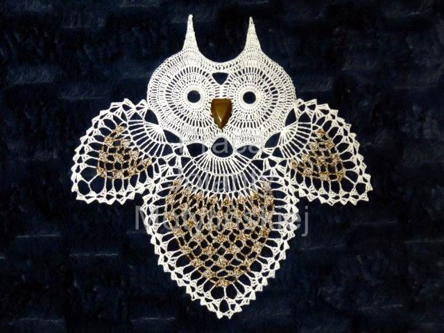 Owl - Crochet Doily