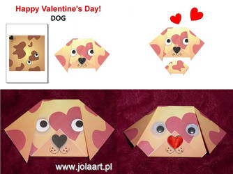 Paper Origami - DOG by jolabrodnica
