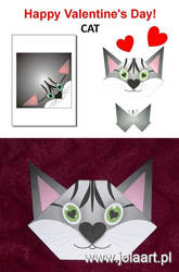 Paper Origami - CAT by jolabrodnica