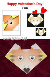 Paper Origami - FOX by jolabrodnica