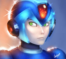 [Redraw] Mega Man X by Cloudney