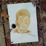 Coffee Painting - My Brother by GabrielaOlteanu