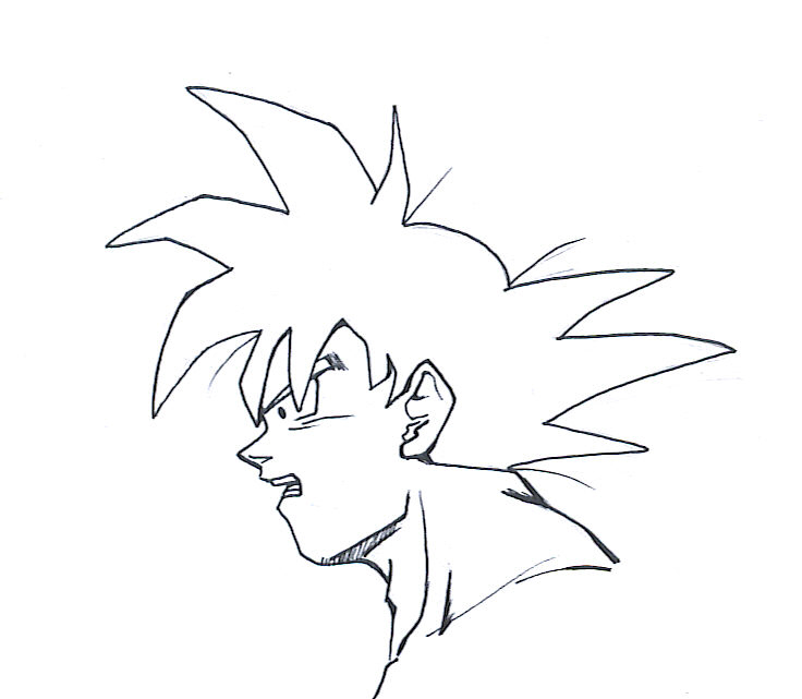 how to draw dragon ball z faces