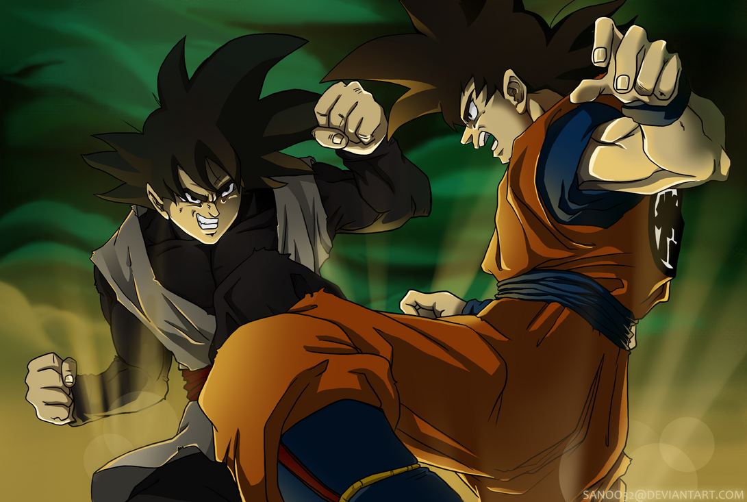 Goku Vs Black by Sanoo32
