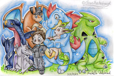 Canine Hybrid's pokemon team by mmishee