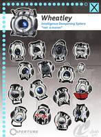 Portal 2 - Wheatley study by mmishee