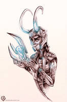 Loki in Pencil by mmishee