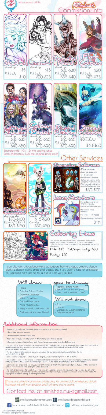 mmishee Commission Prices 2013 by mmishee