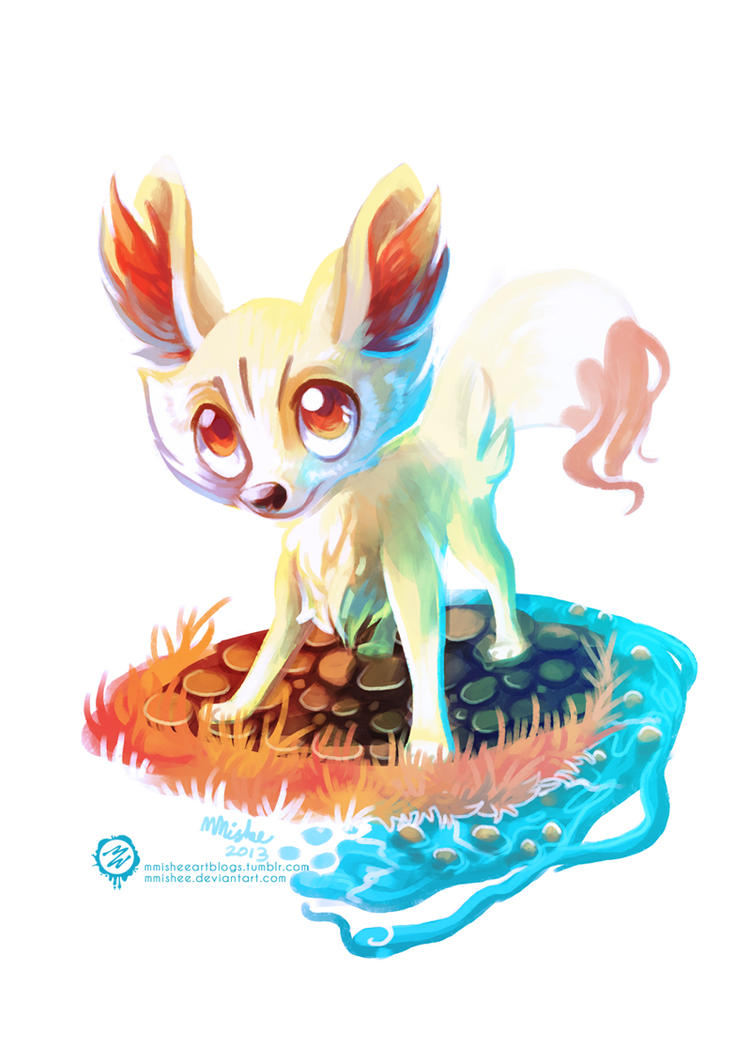 Fennekin - Pokemon X Y by mmishee