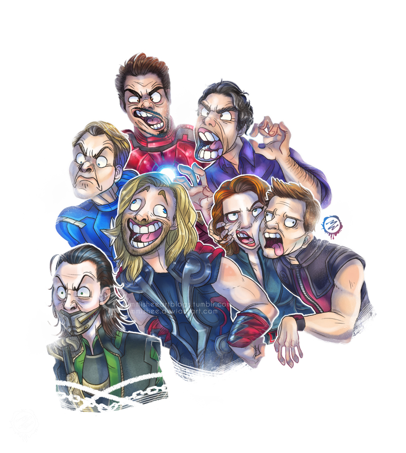 World's Derpiest Heroes - Avengers by mmishee