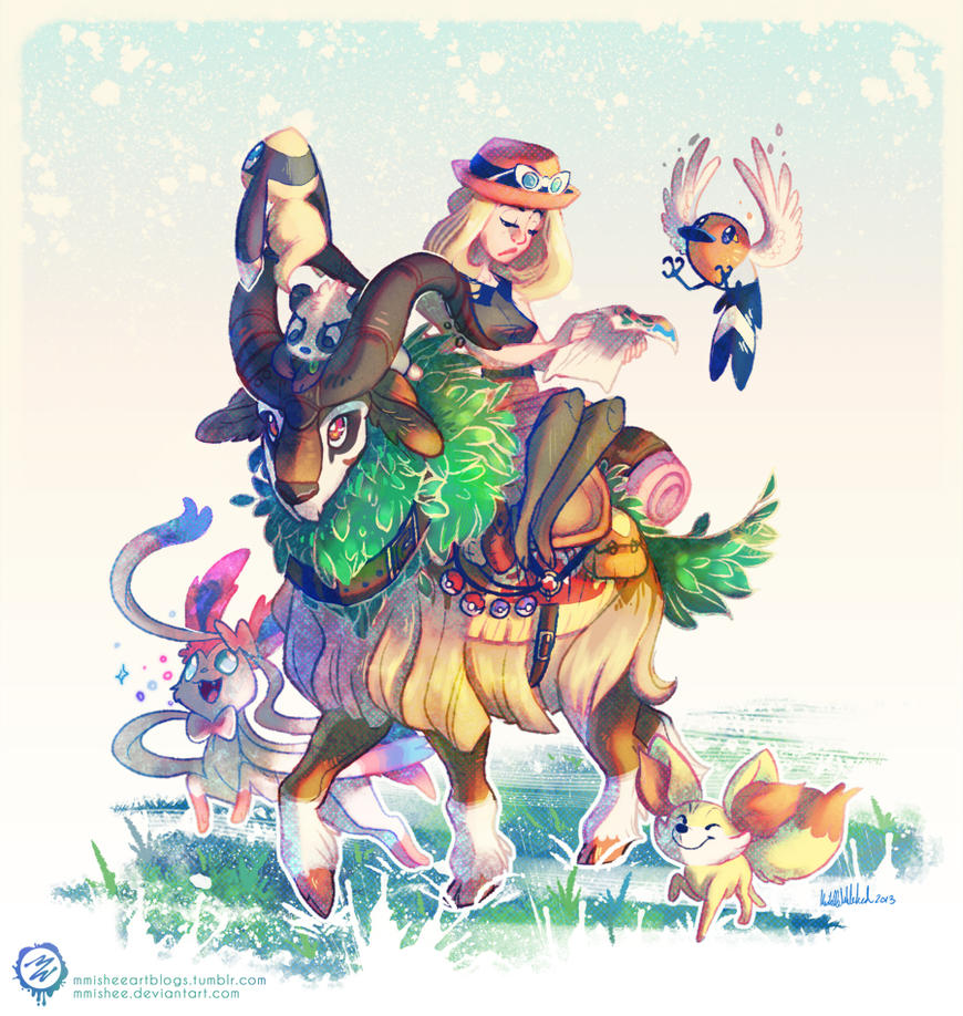 pokemon x y - new start by mmishee on deviantart