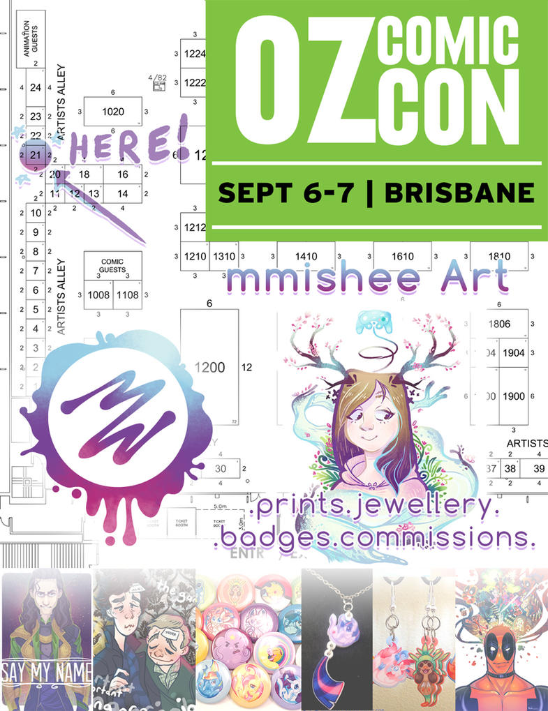 Come see me at OZ Comic-Con! by mmishee