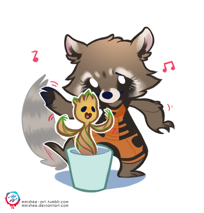 Rocket and groot by mmishee on deviantart