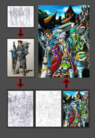 Making of my artwork by chenkl