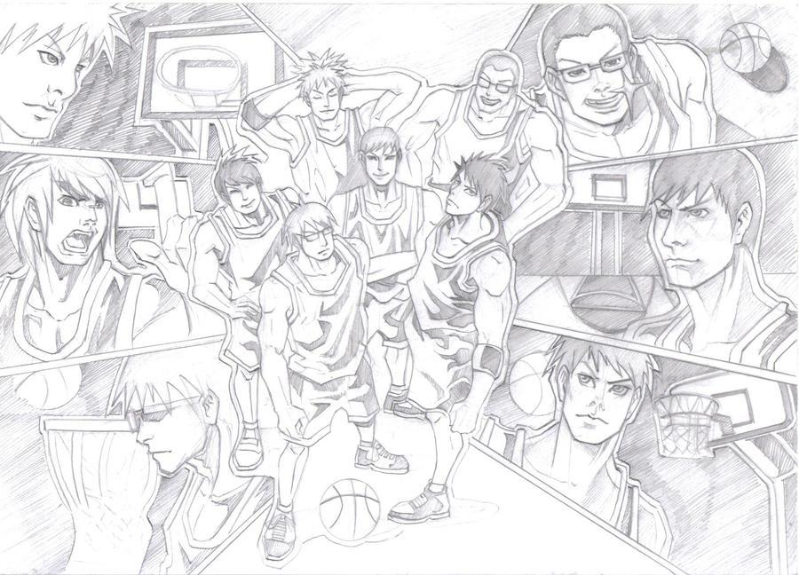 basketball team sketch by chenkl