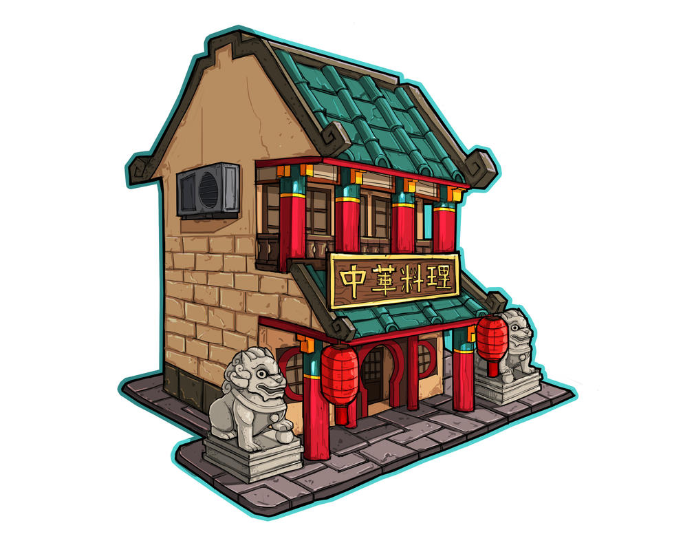 Fridge Building Magnet 2 by chenkl