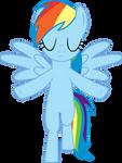 (Custom Pose) Rainbow Dash - Ascending
