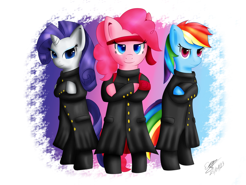 Pony Group - Smile Cheer Squad by extreme-sonic