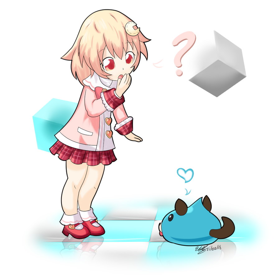 Hyperdimension Neptunia - Mini Compa and Dogoo by extreme-sonic